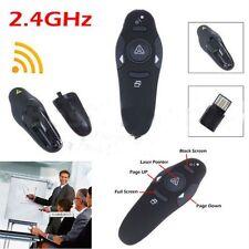 Wireless USB PowerPoint Presenter Remote Control Laser RF Pointer Pen #AA