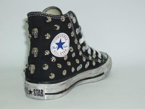 blanc Skulls rouge All Artisan Noir Hi Converse Blanc Star bleu Studs xfTT7q