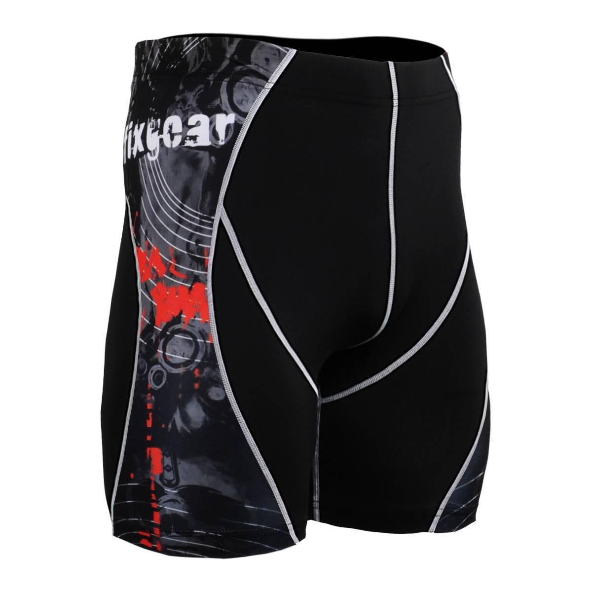 FIXGEAR P2S-B30 Compression Skin Tights Shorts MMA Workout Yoga Fitness Crossfit