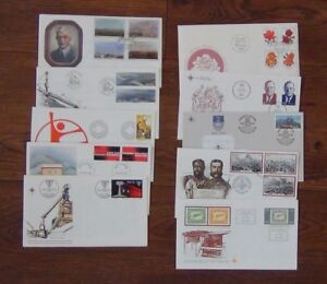 South-Africa-10-x-FDC-1978-1979-Volschenk-Fuel-Zulu-Roses-Harbour-Vorster-Used