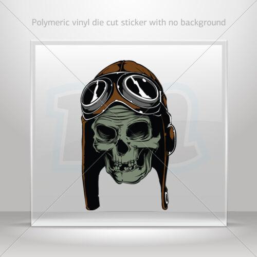 Autocollant stickers pilot crâne ATV Bike Garage Vélo polymeric Vinyle st5 X5676