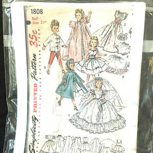 Vintage-1956-Simplicity-Printed-Pattern-Doll-Size-21-Inches-1808