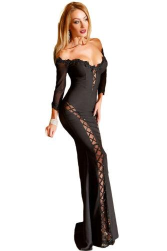 Trasparente Cerimonia Aderente S Abito Aperto Lungo Evening Mermaid Scollo Dress UwEnq1pnxC