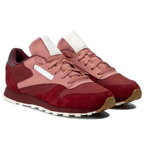 uomo scamosciata rosse New Uk In Sneakers pelle 7 Mens Reeboks da in Urban Box Classic 5 qzxFnfYS8