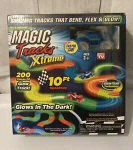 Magic-Tracks-Xtreme-Glow-in-the-Dark-Race-Car-Track-Set-Red-Car-Sealed