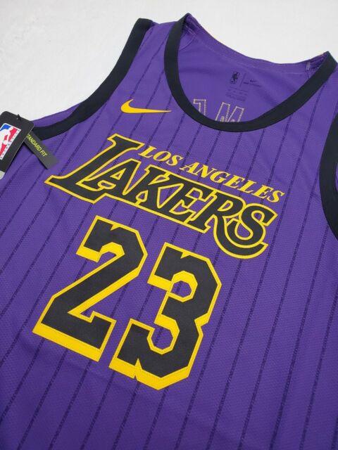 Nike Los Angeles Lakers Lebron James City Edition Jersey Sz 56 2xl ...