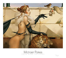 Michael Parkes The Creation Fantasy Magical Weird Odd Print Poster 31.5x27.5