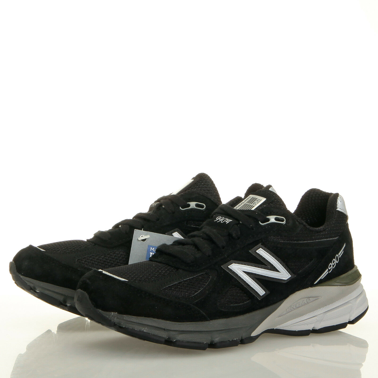 New Balance 990 v4 Women's Black Suede Running shoes - Size 5 B