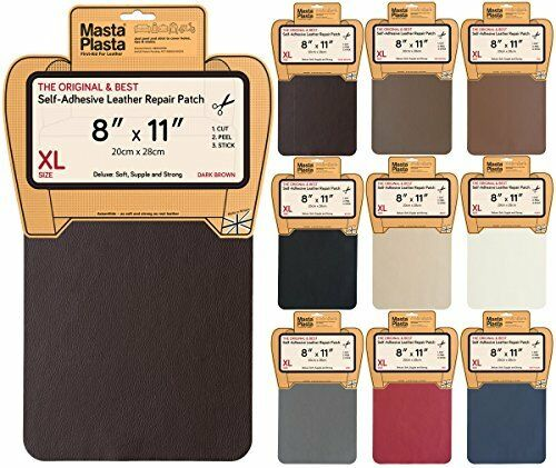 MastaPlasta, Leather Repair Patch, First-aid for Sofas Car Seats, Handbags New