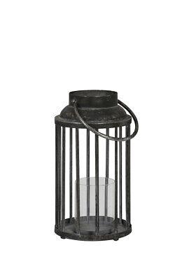 Clever Laterne Windlicht Metall Glas Einsatz Light & Living H 35 Cm Antique Silber Neu Ein Kunststoffkoffer Ist FüR Die Sichere Lagerung Kompartimentiert