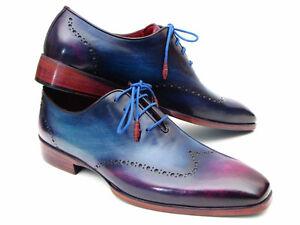 Paul-Parkman-Bleu-amp-Violet-Bout-D-039-Aile-Derbies-ID-084VX55