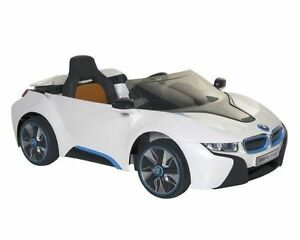 bmw i8 concept 6 volt electric ride on car white black blue ebay