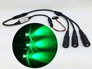 Micro Effects Light 3X green LED & control flash blink 9V prop models MELKITG-5B