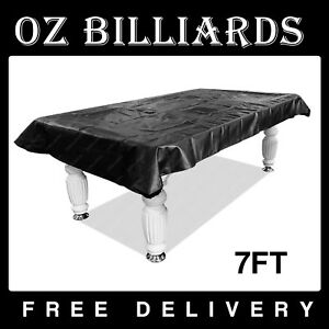 225 & Details about Quality 7 foot Pool Snooker Billiard Vinyl Table Cover Black w/ Rubber Band