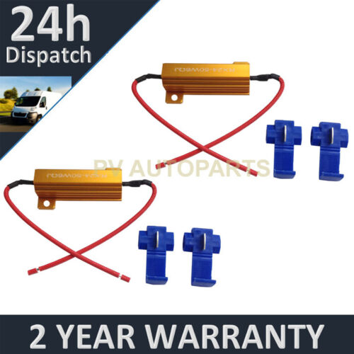 TAIL LIGHTS LED BULB IN-LINE CANBUS LOAD RESISTOR WARNING CANCELLERS WIRE