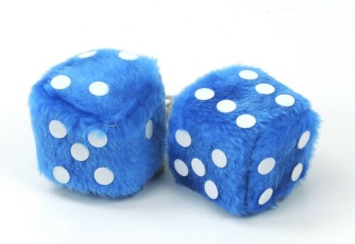 4x dados la suerte retrovisor talismán decorativas rückspiegelanhänger cubo amarillo azul