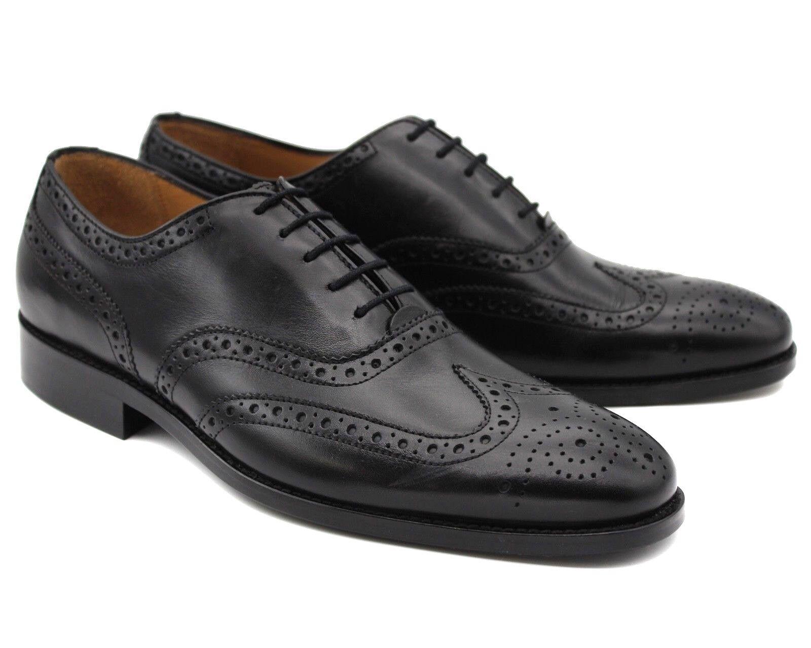 179Nuevo Para hombres Cuero Marrón Inteligente Estilo Zapatos Con Cordones formales de trabajo
