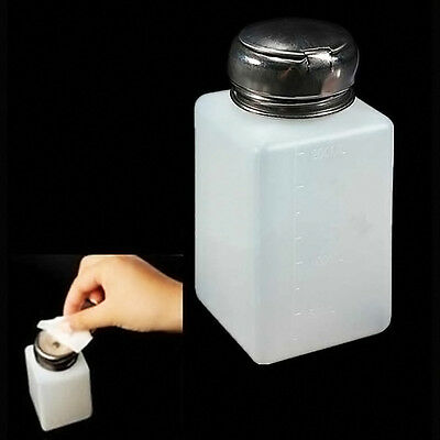 200ML Liquid Press Nail Polish Remover Dispenser Cleaner Pumping Bottle *1
