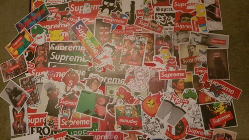 Supreme Stickers Supreme Box Logo Hypebeast hype skate pop culture