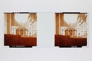 Pau Château Francia Foto Placca Da Lente Stereo Vintage