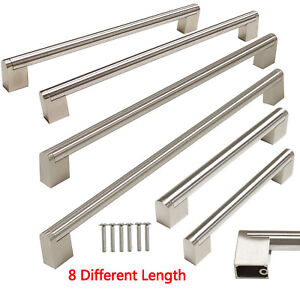 Brushed Stainless Steel Kitchen Cabinet Handles Cupboard Drawer
