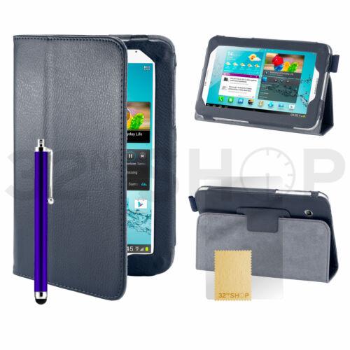 Ständer Kunstleder Hülle Tasche für Samsung Galaxy Tab 2 7.0 P3100 Displayschutz