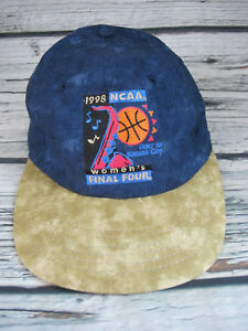 1998-NCAA-Women-039-s-Final-Four-Basketball-Hat-Blue-Jean-Strapback-Cap-Kansas-City
