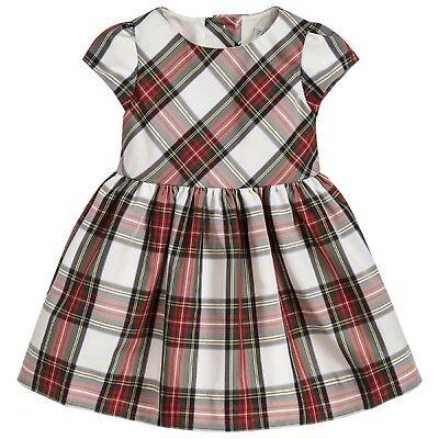 Girls NEXT red blue green check tartan dress sleeveless dress age 2-6 bnwt