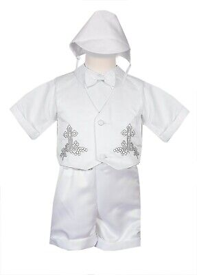 Rafael Boys White Baptism Outfit Rhinestud Complete Set