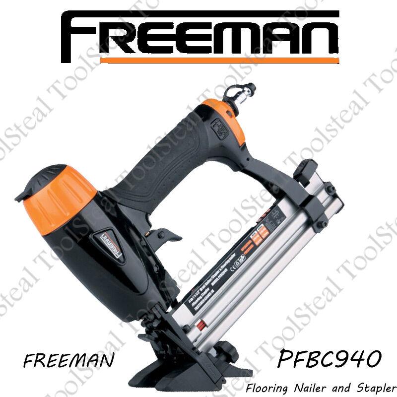 Freeman PFBC940 Pneumatic 4-in-1 Mini Flooring Nailer   Stapler W  FACT WARRANTY