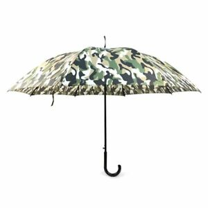 c96b9c47c3df Details about BG Small Camouflage Auto Open J-Shaped Handle Windproof  Umbrella