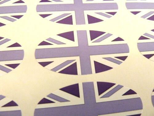 etiquetas Para Envoltorio De Regalo Sobres bolsas Púrpura Union Jack Bandera Oval Sello etiquetas