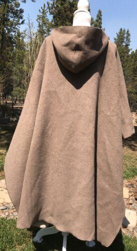 Hooded End Brown Blend Nwt 198 Poncho Over Wool Lands' Pull Women's nylon UB5xzwq