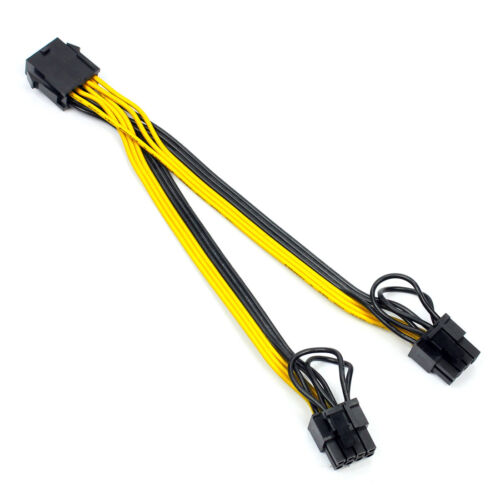 CPU 8pin to Graphics Card Double 8pin Line 8P female to 6+2pin Power Cable