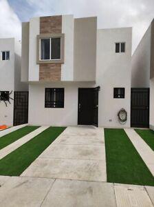 Casa nueva en renta Viñas del Mar 3 recámaras