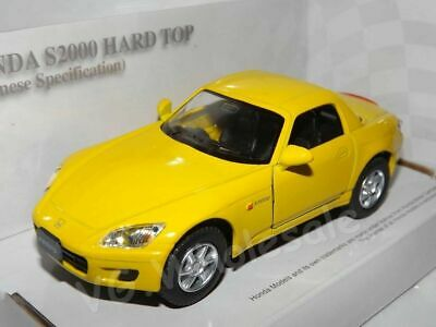 """Porsche Boxster S Yellow Die Cast Metal Model Car 5/""""  New In Box"""