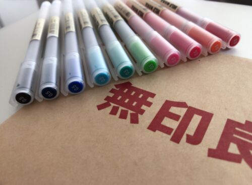 MUJI MoMA Super Fine 0.5mm Gel Ink pen 10 colours FREE SHIPPING /& SAVING £5.95