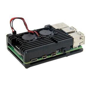 Custom-Huge-Aluminum-Heatsink-Dual-Cooling-Fan-Cooler-for-Raspberry-Pi-4-model-B