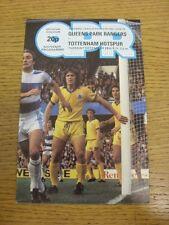 26/12/1978 Queens Park Rangers V Tottenham Hotspur (Piccolo Ritaglio corrispondenza all'interno