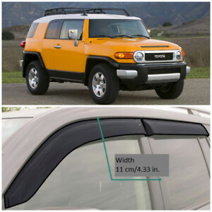 For TOYOTA FJ CRUISER 06-18 Deflector Window Visors Guard Vent Weather Shield
