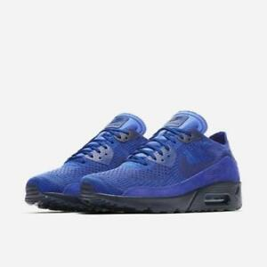 NIKE AIR MAX 90 ULTRA 2.0 FLYKNIT 875943 402 RACER BLUE COLLEGE NAVY ... 2be5793f7