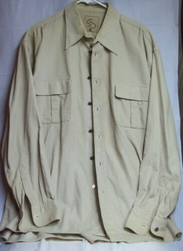 Vintage Mens Western Cotton Corduroy Overshirt XL