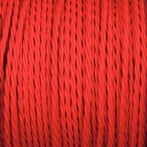 All Colours Vintage Style Braided Fabric Cable Three Core Twisted