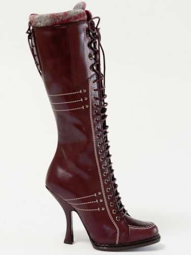 Dior Montagne Burgundy Hand Made Leather  Boots 37 US 7