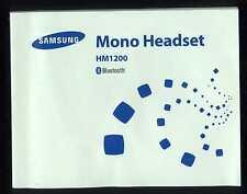 Manuale Uso Manual-SAMSUNG Mono Headset  Auricolare Cellulare Bluetooth HM1200