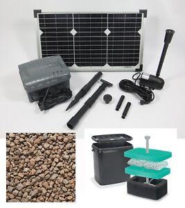 20w pompa solare gioco d 39 acqua giardino filtro stagno for Filtro per stagno