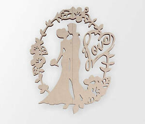 Wooden Shape Just Married, Wooden Cut Out, Wall Art, Home Decor, Wall Hanging