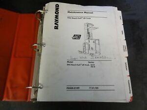 Details about Raymond EZ-D DZ-D EASi Reach Fork Lift Truck Forklift  Maintenance Manual