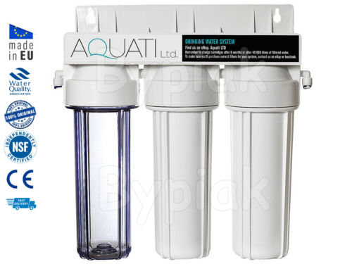 FAUCET 3 STAGE HMA UNDER-SINK DRINKING WATER FILTER SYSTEM KIT ACCESSORIES