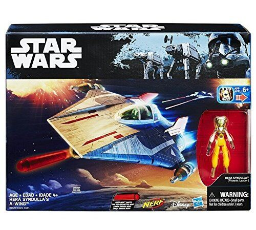 STAR WARS Rebels Series A WING FIGHTER with Exclusive Hera Syndulla figure toy